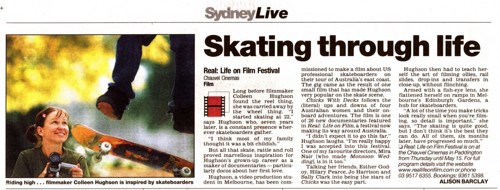 Colleen Hughson interviewed for the Sydney Herald