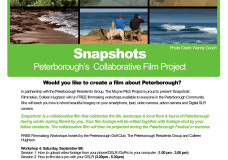 Snapshots Poster: Workshop Series 2