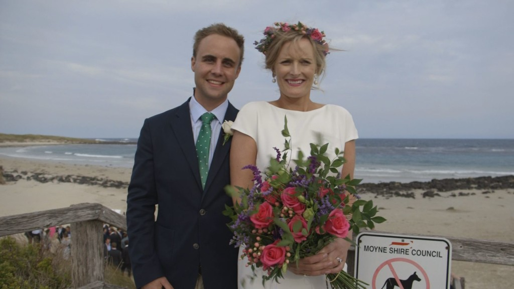 Sam and Sybil's wedding on Port Fairy south beach 2015